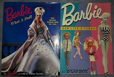 Barbie What a Doll! Her life and times. Lot of 2 books.