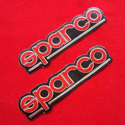 """4.3/4""""x2p. red sparco racing seat vinyl chrome decal sticker foil emboss"""