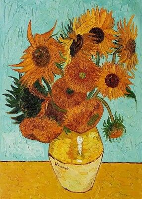 Canvas Print Van Gogh Painting Repro Sunflower Wall Art Home Decor Picture 16X24