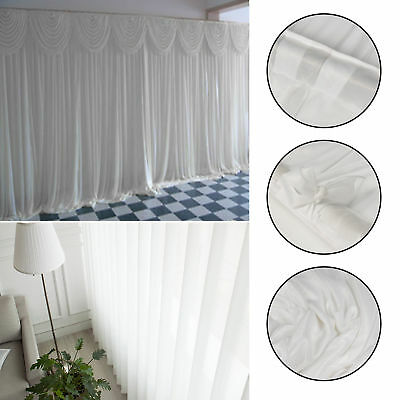 Wedding Party Backdrop Stage Photography Background Drape Curtains White Side