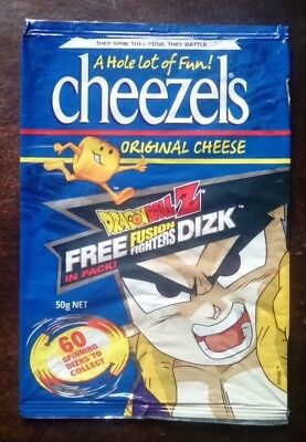 Collectable 'Dragon Ball Z' EMPTY CHIP PACKET - Cheezels Original Cheese