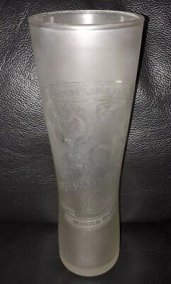 Rare Collectable Frosted Peroni Nastro Azzurro 500Ml Beer Glass Used Condition
