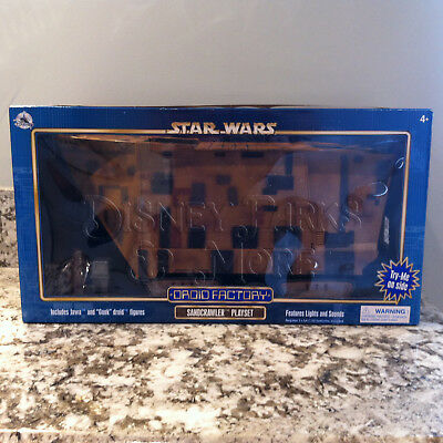 Disney Parks Star Wars Sandcrawler Jawa Droid Factory Playset with Lights Sounds