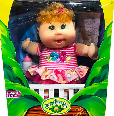 Cabbage Patch Kids Babies Baby Doll Kid Toy Baby Name+DOB Girl Baby +Milk Bottle