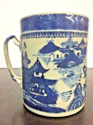 Antique Chinese Nanking Blue and White Porcelain Large Cup