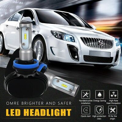 2xLED Headlight Bulb H8 H9 H11 6500K Conversion Kit 8000LM  Fog Bulb Low Beam
