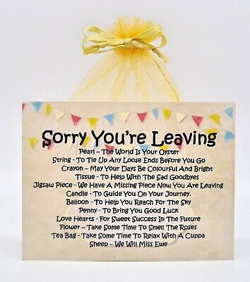 Sorry You/'re Leaving Survival Kit A Unique Fun Novelty Gift /& Keepsake !