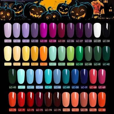 LILYCUTE UV Gel Polish Halloween Pumpkin LED Lamp Nail Art Soak Off Gel Nail 5ml