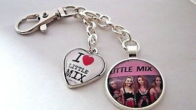Little Mix 1 Love Heart Key Ring Strong Chain Silver Plated Gift Boxed  Party