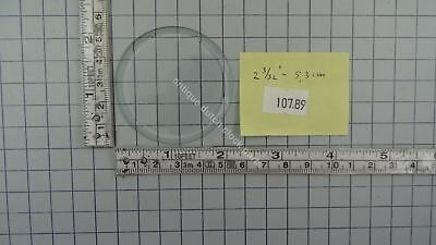 "CLOCK DOOR CONVEX GLASS 2 3/32"" or 5,3 cm across BEVELED EDGE"