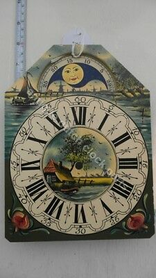 Dutch Clock Small Friesian Tail Or Schippertje Handpainted Replacement Dial 5
