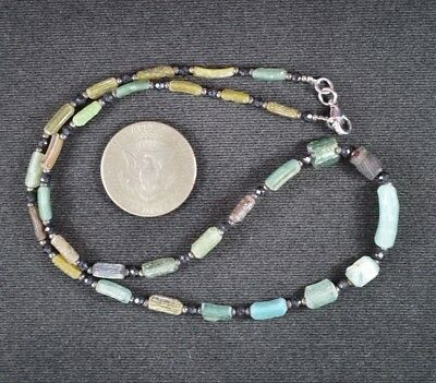 Ancient Roman Glass Beads 1 Medium Strand 100 -200 Bc 0979