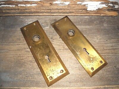 Vtg Chippy Shabby Steampunk Rustic Antique Door Knob Back Plates Arts/crafts