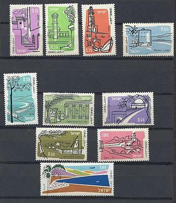 Israel Stamps 1960 Air Mail 10 V Mnh Without Tabs