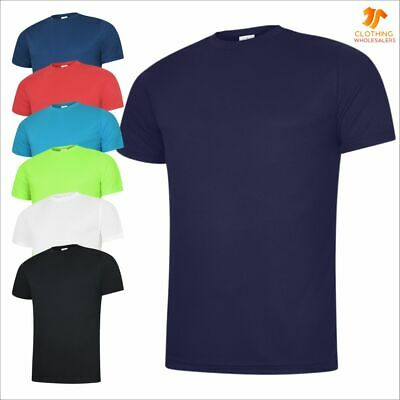 Men's Ultra Cool T-Shirt Textured Breathable Sports Light Polyester Casual Tee
