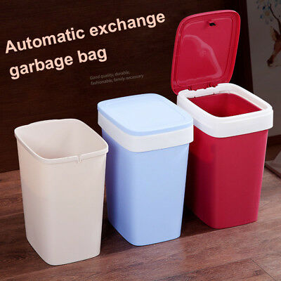 Brief Pressing Type Trash Can Bag Easy Change Garbage Can with Lid for Home