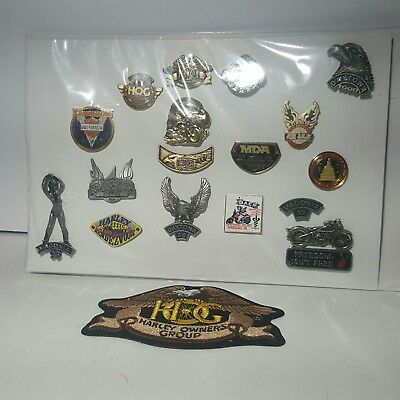 "Harley Owners Group ""HOG"" Plus Event Pins Rare Lot of 17"