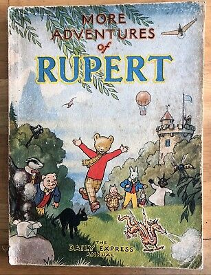RUPERT ORIGINAL ANNUAL 1947 Inscribed NOT Price clipped G/VG