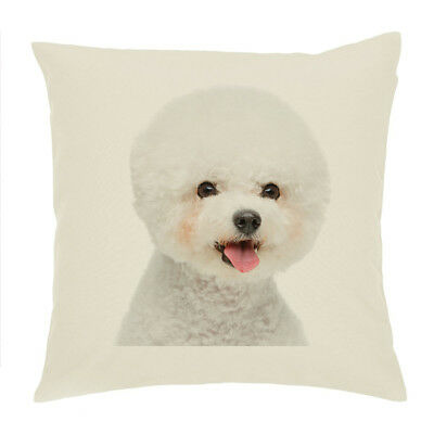 Animal Collectables Collectables Bichon Frise Dog 'Yours Forever' Soft Velvet Feel Cushion Cover With AD-BF3-CPW