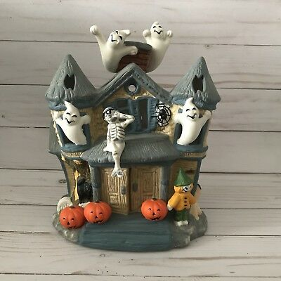 Partylite Haunted Halloween House Ghosts Tealight