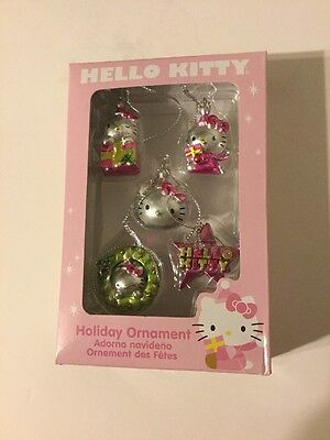 Hello Kitty Miniature Christmas Ornaments Set Of 5 NEW In Box Sanrio
