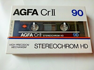 CASSETTE TAPE BLANK SEALED - 1x (one) AGFA Cr II 90 STEREOCHROM 90 [1982-85]