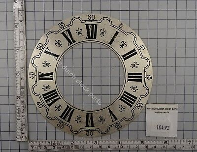 "Used Dial Or Chapter Ring For Zaandam Or Zaanse Klok  13,5 Cm Or 5 5/16"" Across"