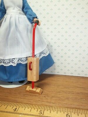 Wooden Upright Vacuum Cleaner - - Doll House Miniature