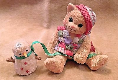 1998 Enesco Calico KIittens ~One Look From You Melts My Heart