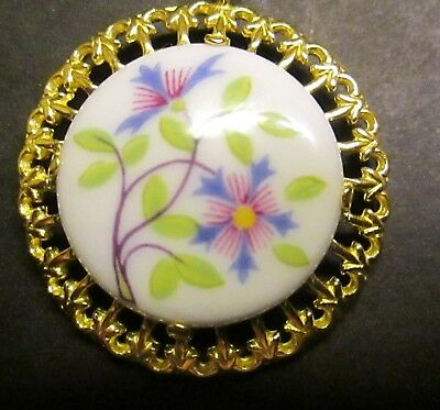 Vintage Bone China Pendant~Royal Worcester China ~Hand Painted~GREAT GIFT BUY~