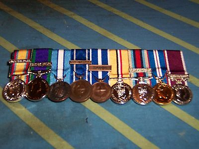 11 Miniature Medals Court Mounted Ready For Wear
