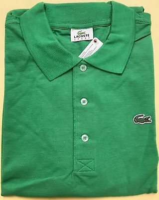NWT Lacoste Mens Cotton Polo Shirt Size 7/2XL Green, Perfect for Golfers