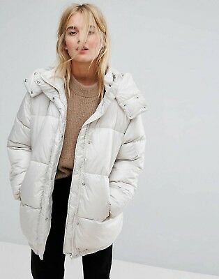White Padded Jacket Asos