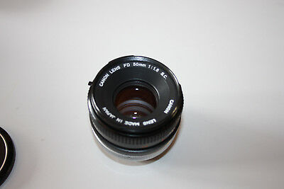 Canon FD 50 mm 1:1,8 / Canon FD 1,8/50mm S.C. mit Sky Filter und WideAngle Hood