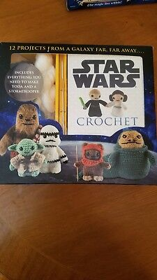 Crochet Kits: Star Wars Crochet by Lucy Collin (2015, Kit) Yoda and Stormtrooper
