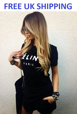 e2054ce127c Celine Paris T Shirt Celebrity Fashion White Top New Tumblr Womens UK Summer