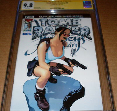 Tomb Raider Journeys #2 CGC SS 9.8 SIGNED Adam Hughes Top Cow 2002 White pages