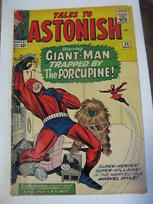 Tales to Astonish #53 (1964 Marvel) Giant Man, WASP & Porcupine Stan Lee