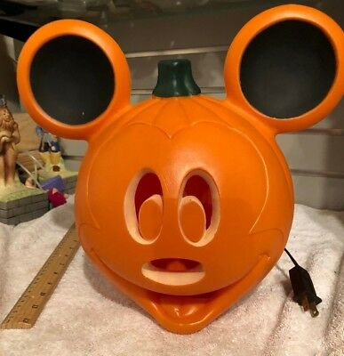 mickey mouse pumpkin head blow mold lighted halloween decor