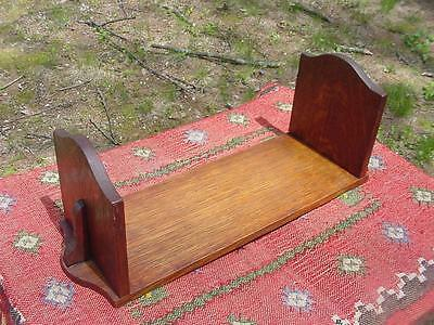 Antique Mission Quartersawn Oak Arts & Crafts Bookends Book Rack ~Glowing Patina