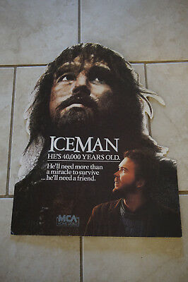 Iceman Timothy Hutton 1984 movie promo card video standee anthropology Halloween
