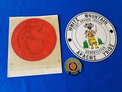 White Mountain Apache Tribe Indian Reservation Az Patch Art Template Lg Sticker