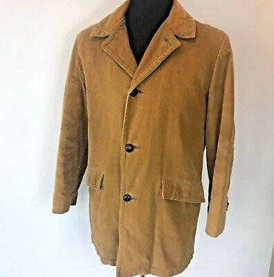 Vintage 1960s 70s JCPenney Towncraft Tan Brown Corduroy Jacket size 40 USA CH