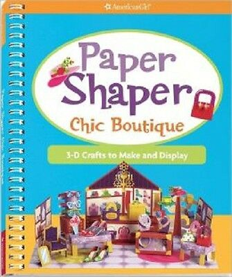 Ag American Girl Paper Shaper Chic Boutique 3-D Crafts To Make And Display New