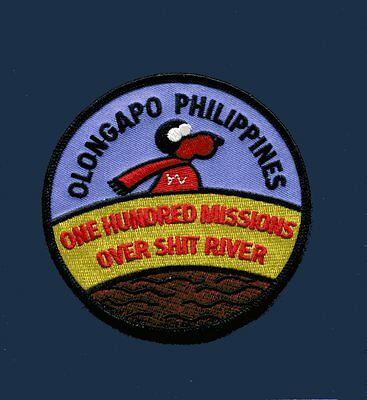 SUBIC BAY NAS CUBI POINT OLONGAPO PHILIPPINES 100 MISSION US Navy Squadron Patch