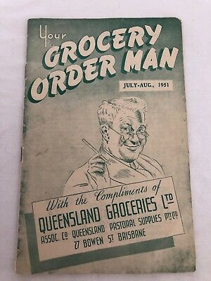 Vintage Rare Your Grocery Order Man 1951 Price List Booklet