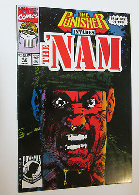 The PUNISHER INVADES the NAM # 52 ORIGINS ISSUE  Marvel January 1991