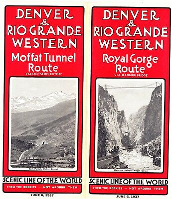 Denver & Rio Grande Western RR System, passenger time table June 6, 1937