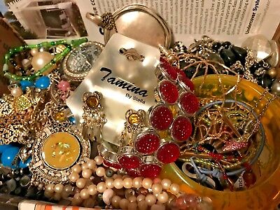 VINTAGE NOW ESTATE JUNK DRAWER LBS JEWELRY LOT Untested Necklace Premier Designs