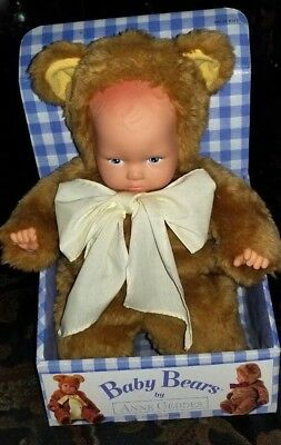 ANNE GEDDES Baby Bears 1997 Plush Doll VINTAGE In Box  NEW/OLD!!!